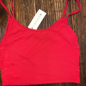 Red Brandy Melville tank top